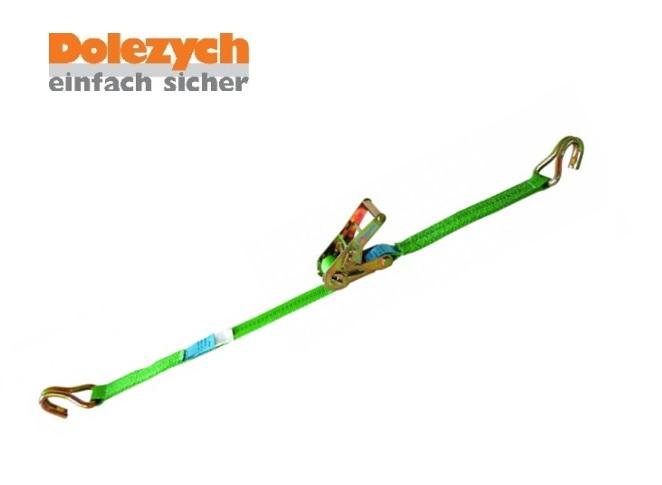 Spanband polyester 2-dlg met profielhaak 6m B.35mm 2000daN Din 12195-2