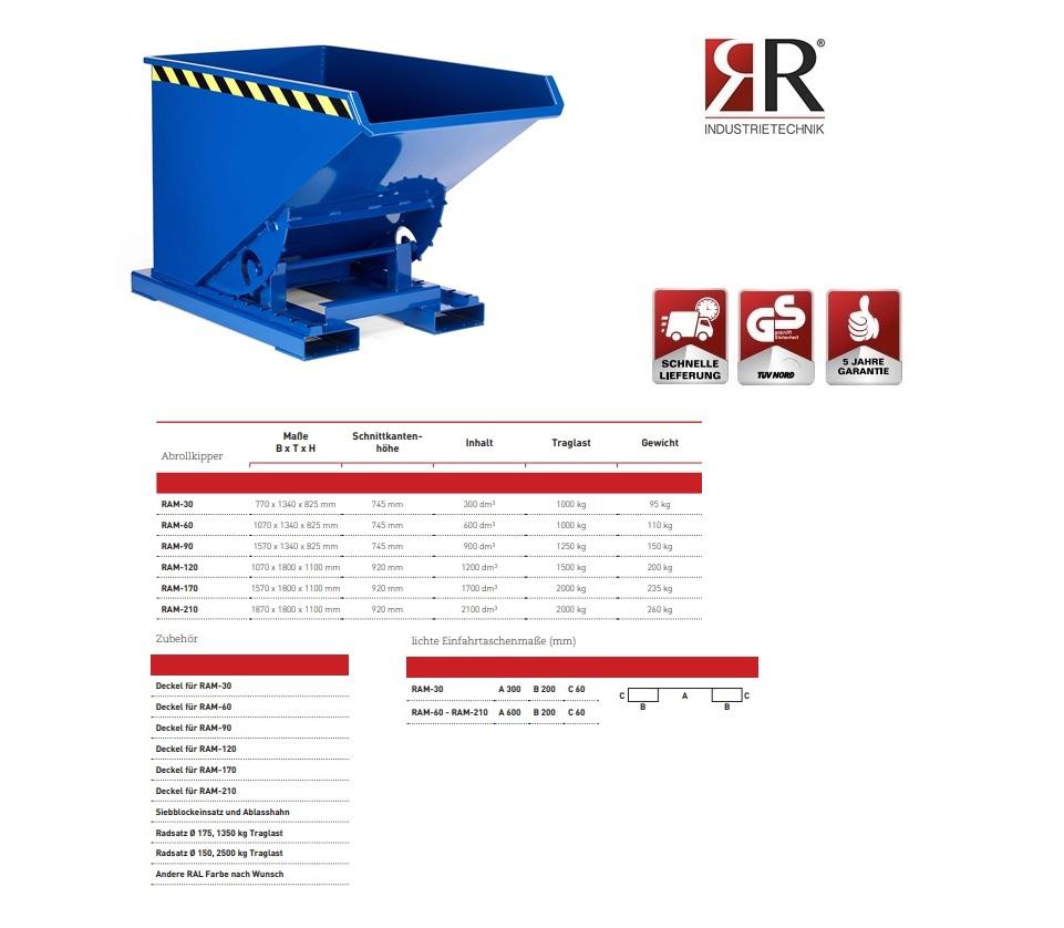 Kantelbak Typ RAM-30 RAL 5010