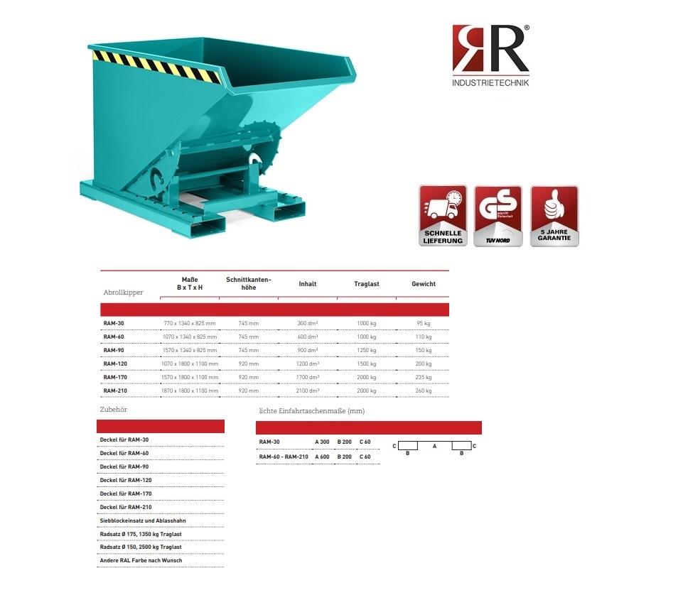 Kantelbak Typ RAM-30 RAL 5018