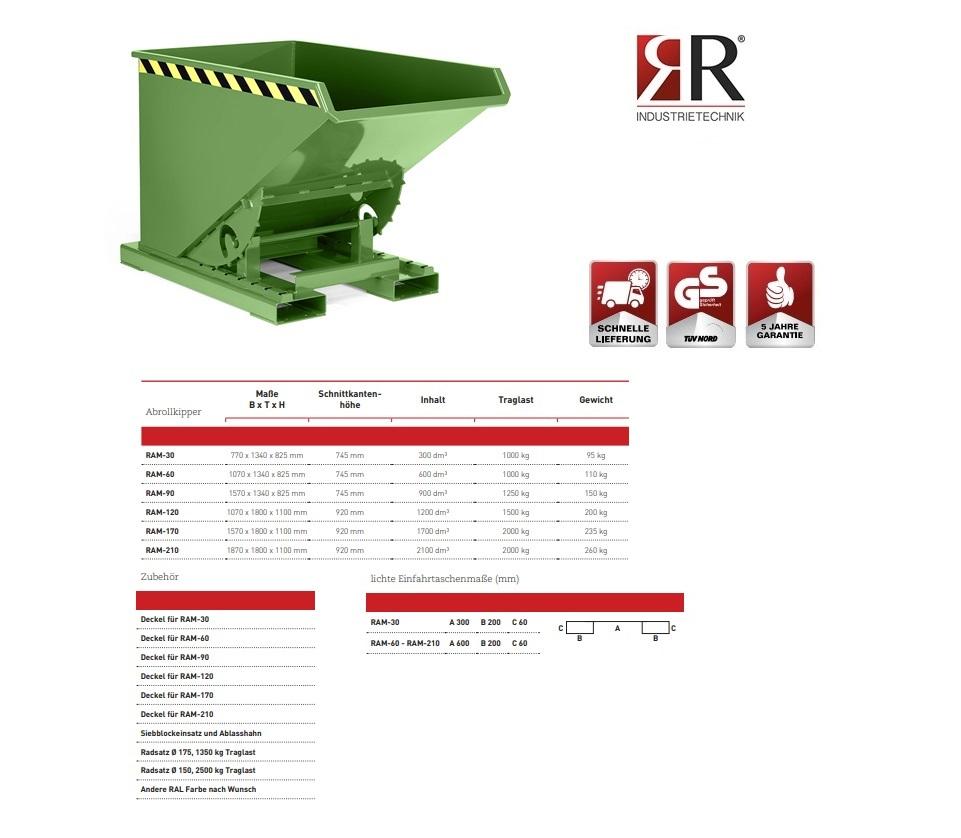 Kantelbak Typ RAM-30 RAL 6011