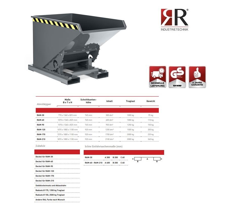 Kantelbak Typ RAM-30 RAL 7005