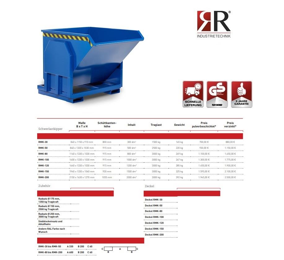 Zware lastenkieper RMK-30 RAL 5010