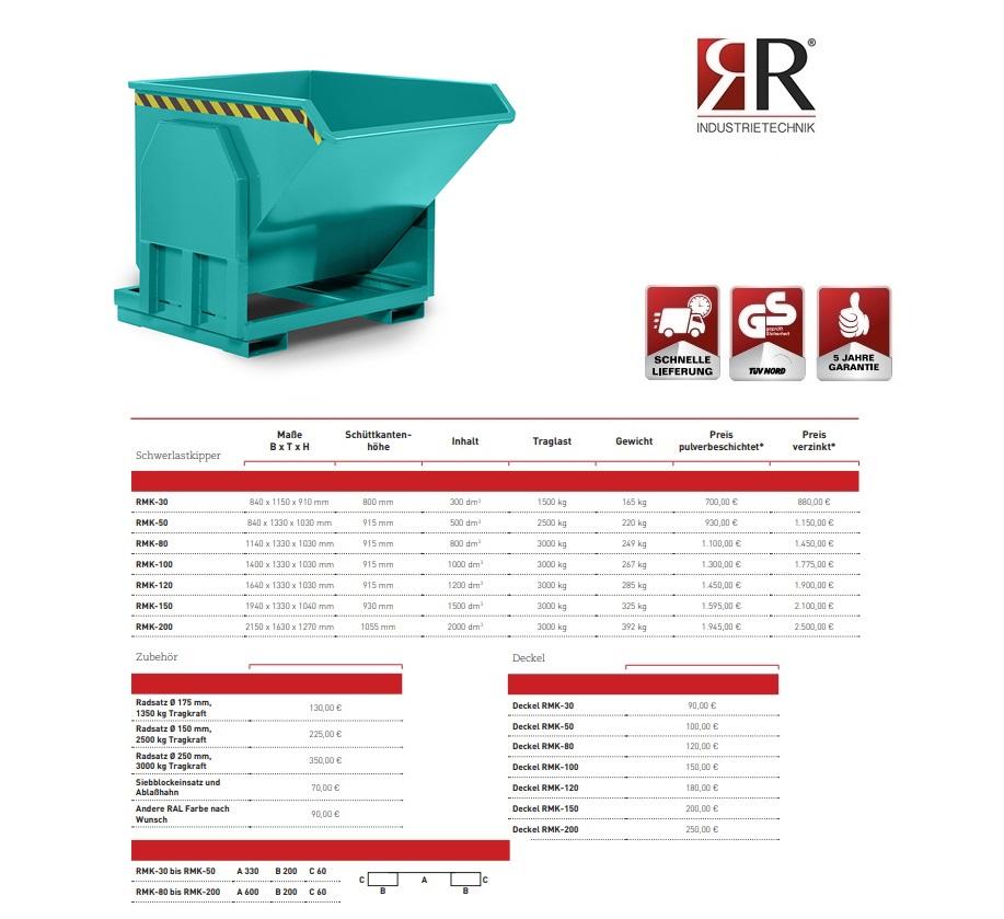Zware lastenkieper RMK-30 RAL 5018