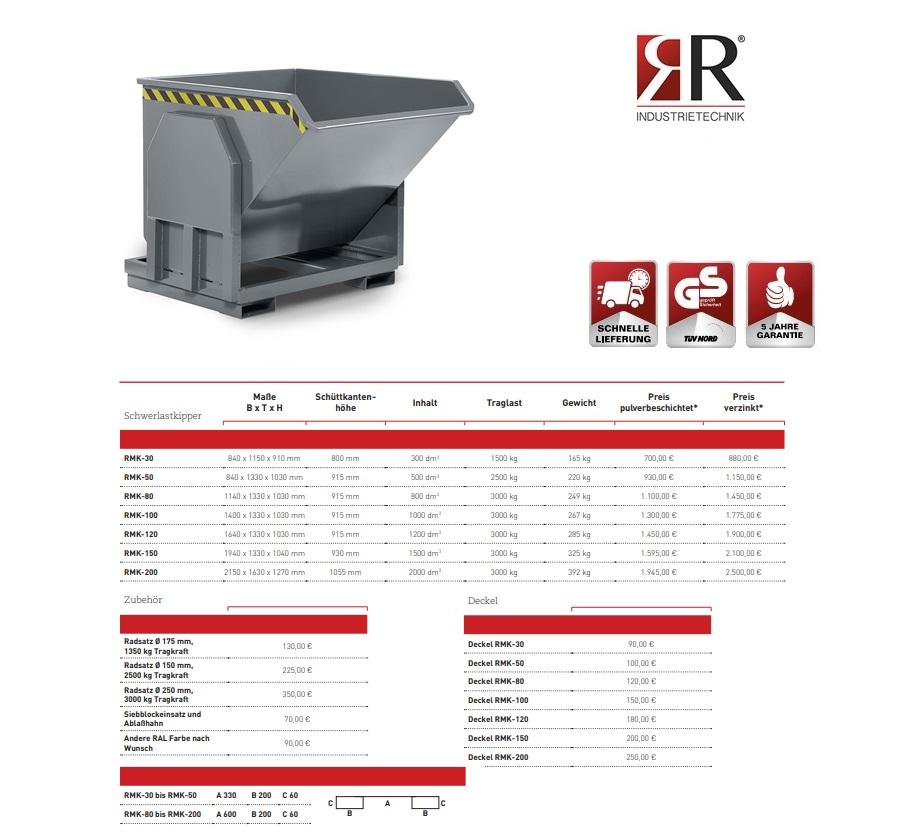 Zware lastenkieper RMK-30 RAL 7005