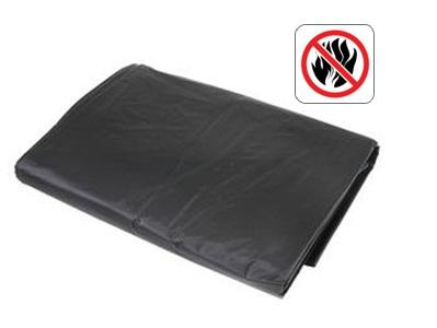 PE dekkleed NVO DIN 4102B1 1,76x3,41m zwart