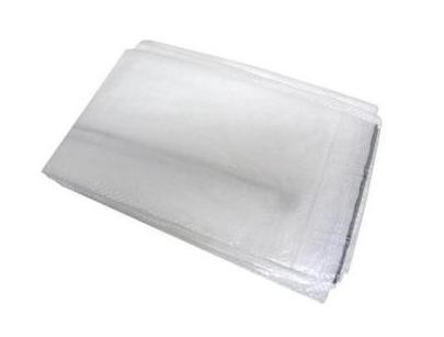 PE geweven doek 2x100m Standard transparant/wit