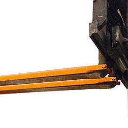 Vorktandverlengers Type GO Lengte 1600x80mm H 40mm Bauer