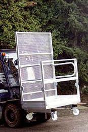 Werkkooi Aluminium Inklapbaar zonder rollen 1260x860mm