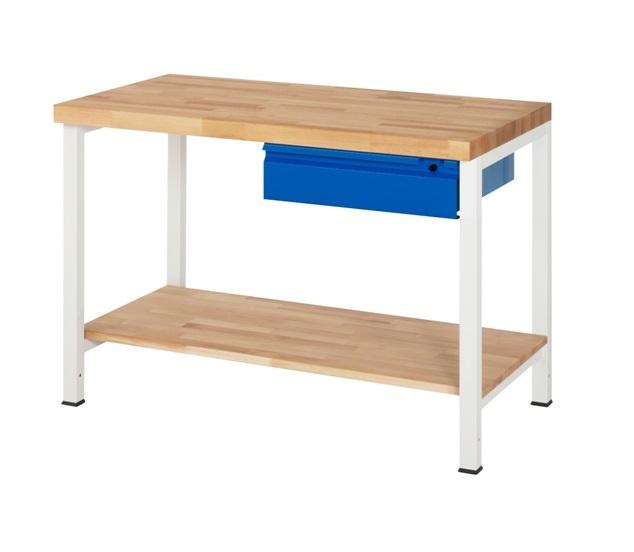 Werkbank Basic-201A 1 x plank 1 x lade 1250 x 700 x 840mm