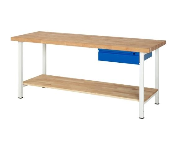 Werkbank Basic-201A 1 x plank 1 x lade 2000 x 700 x 840mm
