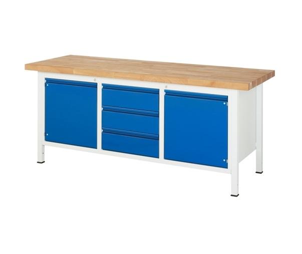 Werkbank Basic-285 A3 2 x lade 2 x Deur 1 x Plank 2000 x 700 x 840