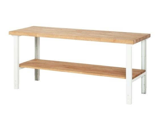 Werkbank Basic-700AHV 1 x plank 2000 x 700 x 790-1140