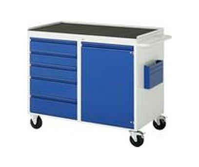 Verrijdbare werkbank Basic 503-M2 5 x lade 1 x deur metalen top