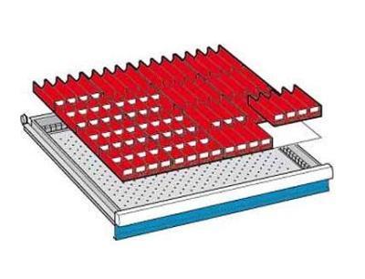Troggen 8-delig 86 troggen 612x612mm voor Lista Selection Ladekast
