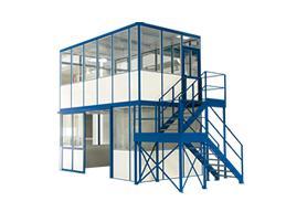 Multifunctioneel kantoor 4-zijdig 2045mm 3045mm