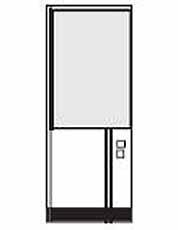 Wandelement met raam en elektrisch element (meerprijs)