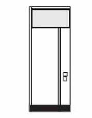 Wandelement met bovenlicht en elektrisch element (meerprijs)