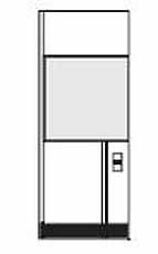Wandelement met middenraam en elektrisch element (meerprijs)
