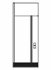 Dicht wandelement met elektrische element (meerprijs)