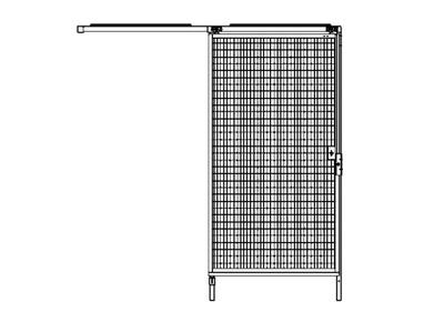 Machinebeveiliging schuifdeur element 980x2000mm