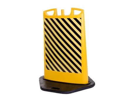 Verplaatsbare poller TR-002 zwart geel