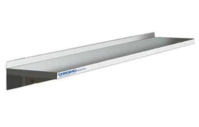 Wandbord roestvrijstaal 1000x250mm