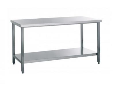 Werktafel roestvrijstaal met tussenplank 1000x700x850mm