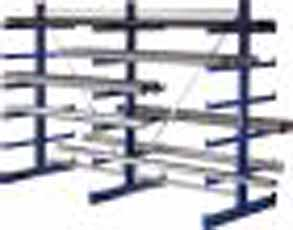 Draagarmstelling ATLAS ST dubbelzijdig H2000xL2700x500mm 5 armen META 97