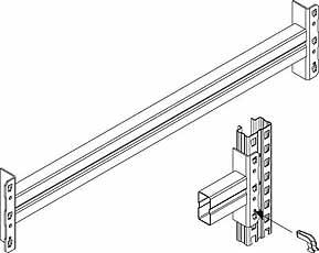 META MULTIPAL Ligger 85/20 1800mm RAL2001 META 77487