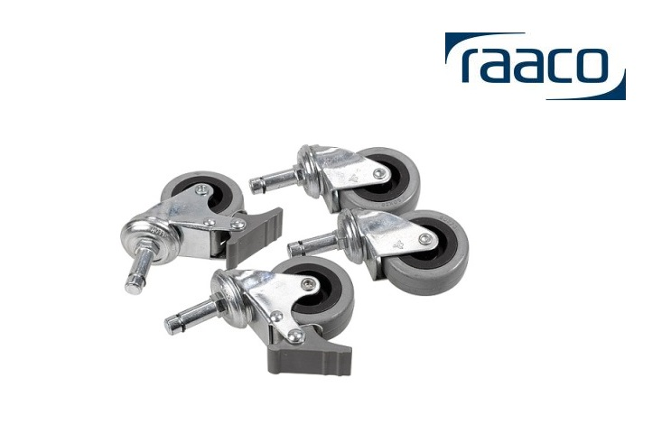 Zwenkwielen-Set 4 stuks Raaco 113656