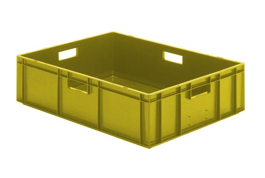 Transportbak 800x600x210mm Geel