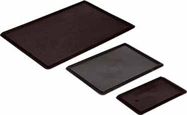 Deksel zwart Voor Transportbak 300x200mm