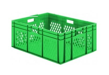 Transportbak gaas gesloten bodem Stapelbaar 600x400x145mm Groen