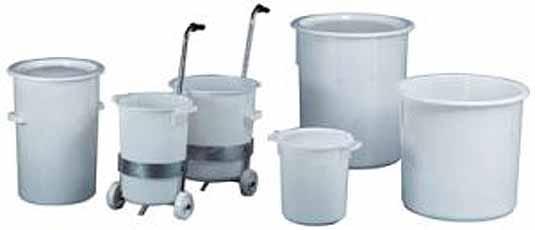 Ton uit polyethyleen met handgrepen Inhoud 40 l D 420mm Craemer 81091110