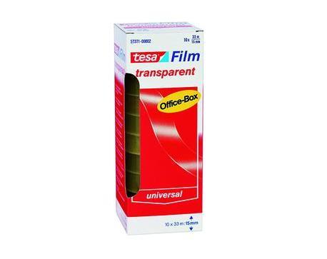 Plakband 33m x15mm transparant Multibox Tesa 57371