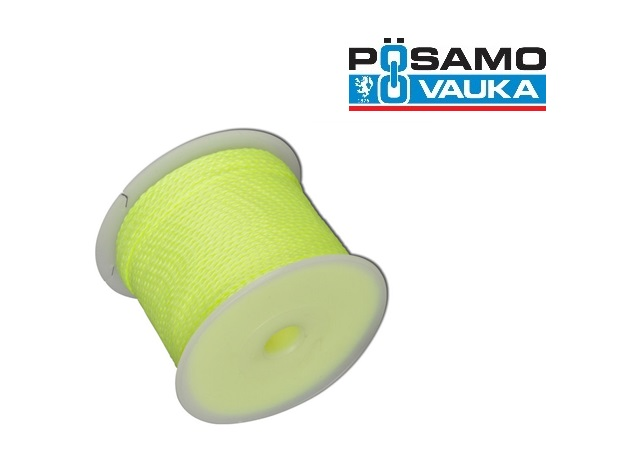 Richtsnoer voor metselaars 100m 1,7mm Polyester Geel