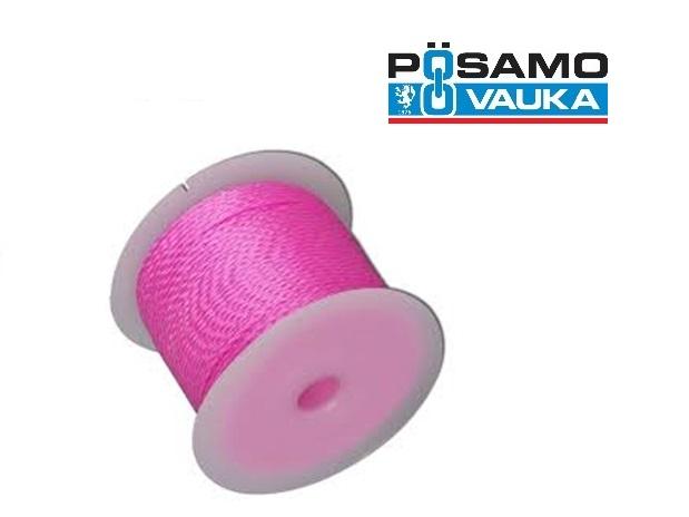 Richtsnoer voor metselaars 100m 1,7mm Polyester Roze