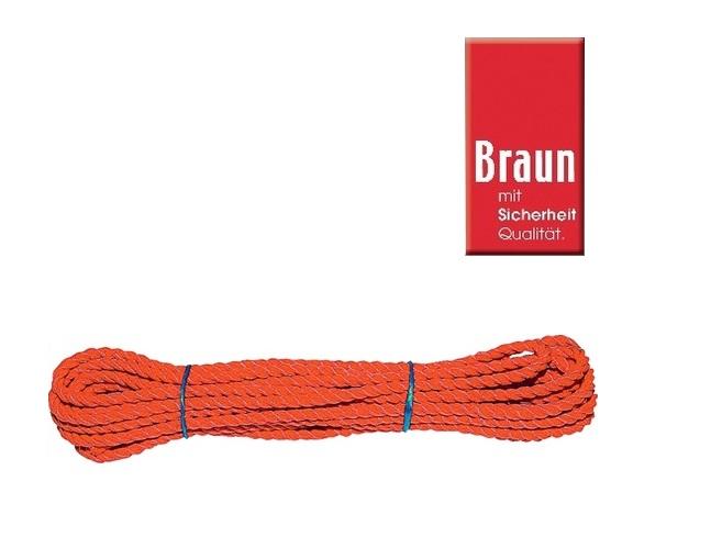Multifunctioneel touw Oranje 10 mtr Ø:8,0 mm