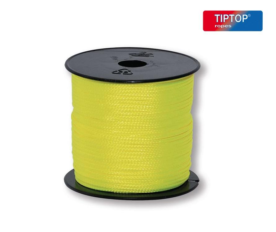 Metselkoord 2,5mm gevlochten nylon 200 m geel