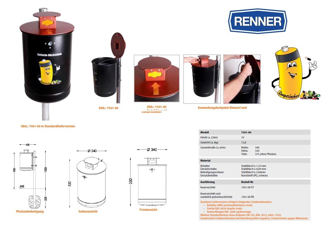 Batterij Verzamelaar 7501-00 FV