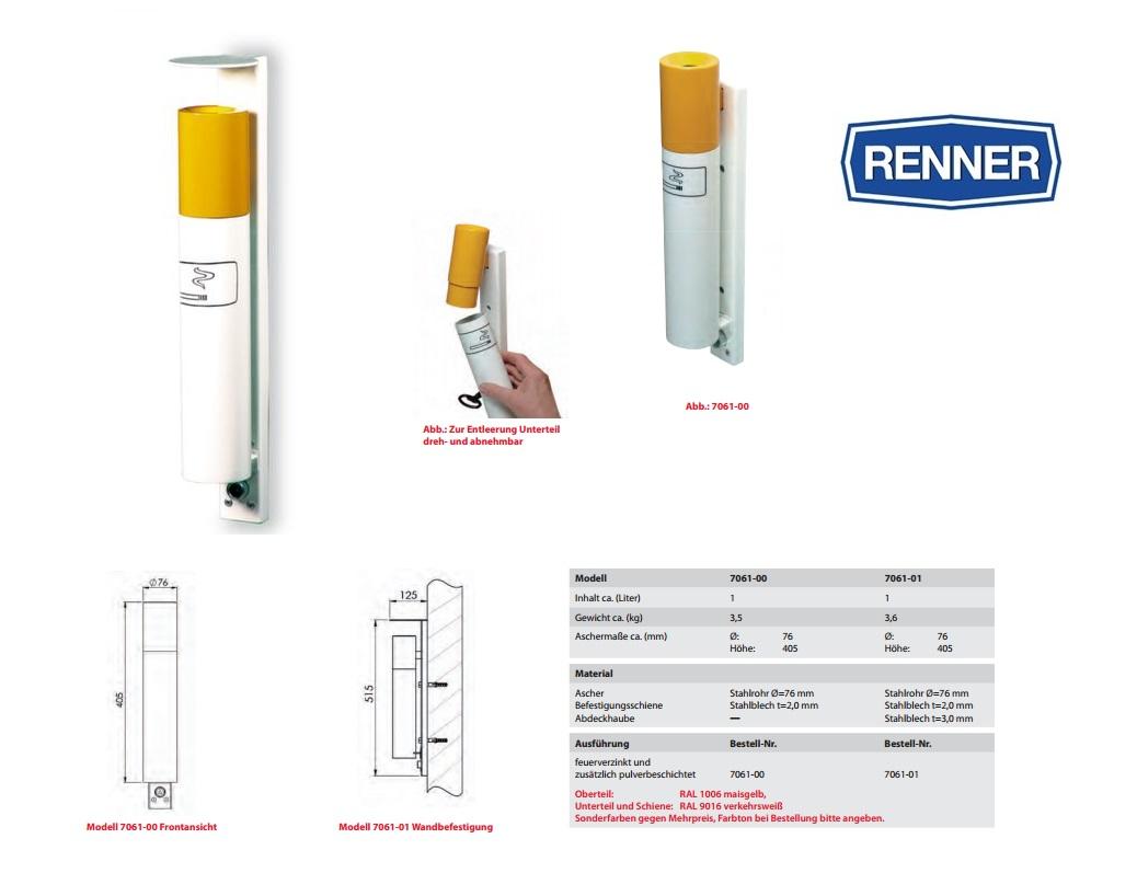 Wand asbak Sigaret-design 7061-00