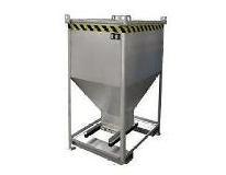 Silocontainer 750 liter met schuif RAL 5012 Bauer SGS 75