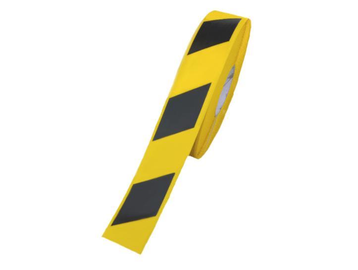 Markering tape 50mmx33m zwart / geel Easy Tape