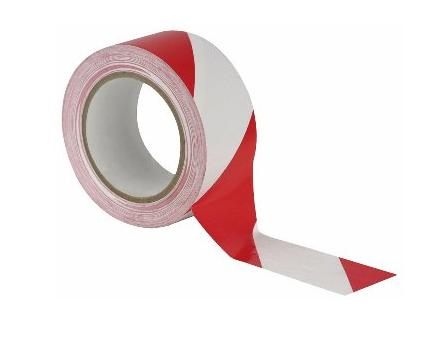 Markering tape wit/rood 50mmx33m Easy Tape