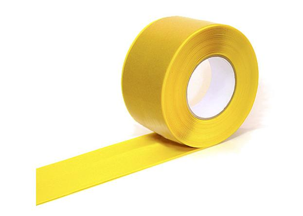 Markering tape geel 75mmx33m Easy Tape