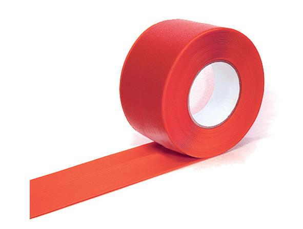 Markering tape rood 75mmx33m Easy Tape