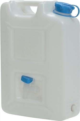 Jerrycan met brede hals 22 liter met kraan Hünersdorff 816700