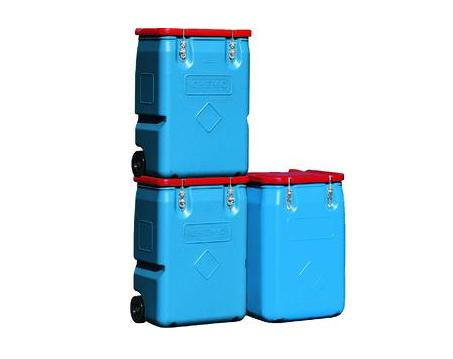 CEMO Mobiele boxen voor gevaarlijke stoffen 170L Deksel Rood CEMO 7718