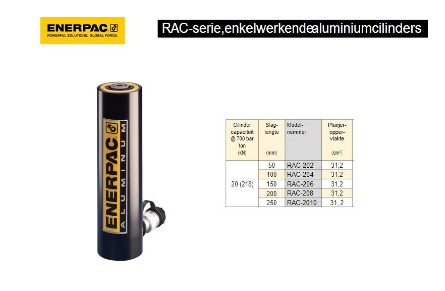 Enerpac RAC208 enkelwerkende aluminium cilinder