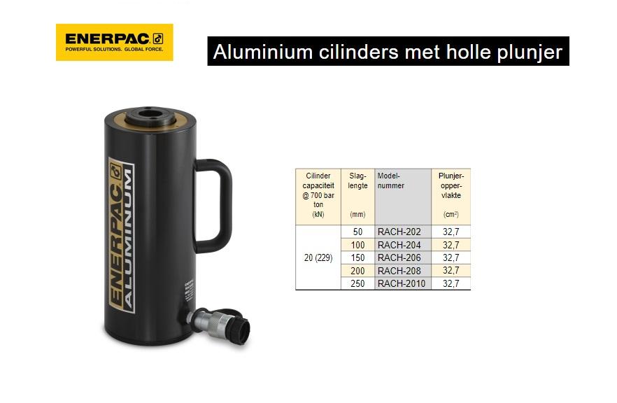 Enerpac RACH202 Aluminium cilinder met holle plunjer